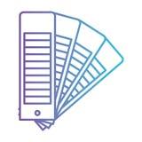 Grupo da escala do guia da paleta de cores no roxo degradado ao contorno azul ilustração stock