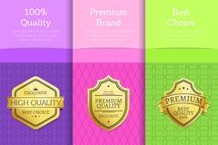 Grupo da escolha de tipo superior de 100 qualidades de cartazes ilustração royalty free