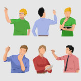 Grupo da escrita do HOMEM Ilustração Stock