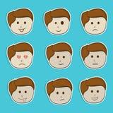 Grupo da etiqueta, da etiqueta ou de etiqueta com expressões diferentes Imagem de Stock Royalty Free