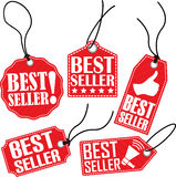 Grupo da etiqueta do melhor vendedor, ilustração do vetor Fotografia de Stock