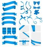Grupo da fita azul e da curva Ilustração do vetor ilustração do vetor
