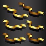 Grupo da fita do ouro Fotografia de Stock