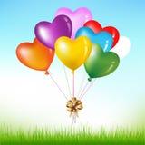 Grupo da forma colorida do coração. Vetor Fotografia de Stock Royalty Free