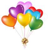 Grupo da forma colorida do coração. Vetor Imagens de Stock Royalty Free
