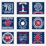 Grupo da forma da tipografia de New York, t-shirt Fotografia de Stock Royalty Free