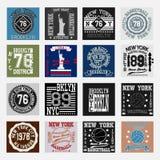 Grupo da forma da tipografia de New York, t-shirt Foto de Stock