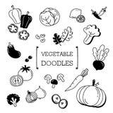 Grupo da garatuja de vegetais Fotografia de Stock Royalty Free