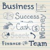 Grupo da garatuja do negócio Imagem de Stock