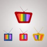 Grupo da ilustração das televisões Fotografia de Stock