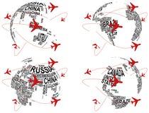 Avião do mundo Imagens de Stock Royalty Free
