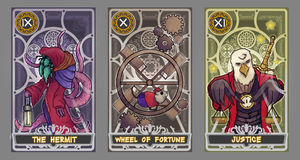 Grupo da ilustração do cartão de tarô ilustração stock