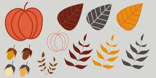 Grupo da ilustração do outono Fotografia de Stock