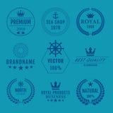 Grupo da ilustração do vetor de logotipos foto de stock royalty free