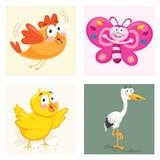 Grupo da ilustração do vetor dos animais Imagens de Stock Royalty Free