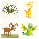 Grupo da ilustração do vetor dos animais Imagem de Stock
