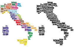 Mapas da cidade de Italia Imagem de Stock Royalty Free