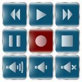 Grupo da ilustração do vetor de ícones para a música Foto de Stock Royalty Free