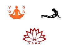 Grupo da ioga três Imagens de Stock