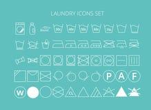 Grupo da lavanderia dos ícones Fotografia de Stock