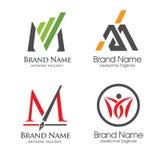 Grupo da letra M de Elegan Imagem de Stock