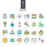 Grupo da linha ícones modernos da cor para o negócio Imagem de Stock Royalty Free