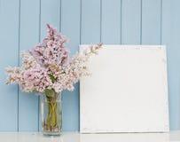 Grupo da lona lilás e vazia Imagens de Stock