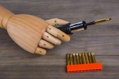 Grupo da mão e da chave de fenda Imagem de Stock Royalty Free