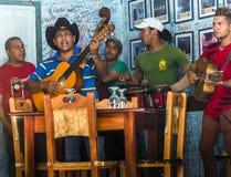 Grupo da música em Trinidad Fotografia de Stock Royalty Free