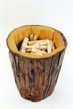 Grupo da madeira do Pin Imagens de Stock