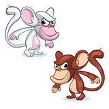 Grupo da mascote do macaco do vetor Caráteres do ano novo Foto de Stock