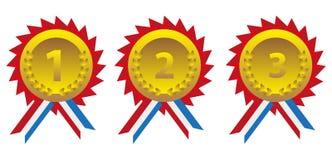 Grupo da medalha Imagem de Stock Royalty Free