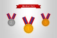 Grupo da medalha Fotos de Stock Royalty Free
