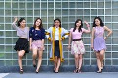 grupo da menina Fotos de Stock