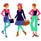 Grupo da menina da forma do outono Foto de Stock