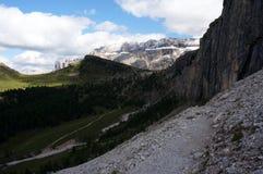 Grupo da montanha da dolomite em Tirol sul Fotos de Stock