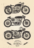 Grupo da motocicleta do vintage ilustração stock