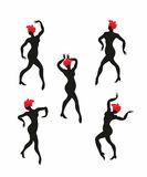 Grupo da mulher da dança Fotos de Stock Royalty Free