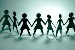 Grupo da mulher no azul mim Foto de Stock