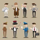 Grupo da ocupação dos desenhos animados ilustração stock