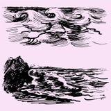 Grupo da onda do mar ou de oceano Imagens de Stock