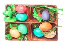 Grupo da Páscoa de ovos feitos a mão Imagens de Stock