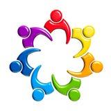 Grupo da pessoa-reunião 7 no círculo Foto de Stock Royalty Free