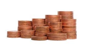 Grupo da pilha das moedas isolado foto de stock royalty free