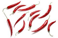 Grupo da pimenta de pimentão no branco Imagem de Stock Royalty Free