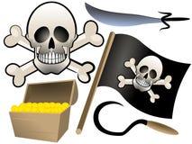 Grupo da pirataria foto de stock