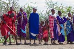Grupo da posição de Maasai Imagem de Stock