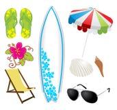 Grupo da praia do verão Imagem de Stock Royalty Free