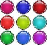 Grupo da rede dos botões de vidro ilustração royalty free