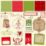 Grupo da rena do Natal Imagem de Stock